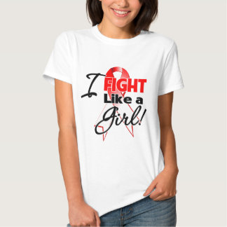 Oral Cancer Ribbon - I Fight Like a Girl Shirt