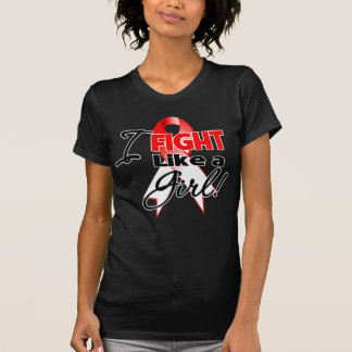 Oral Cancer Ribbon - I Fight Like a Girl Tee Shirt