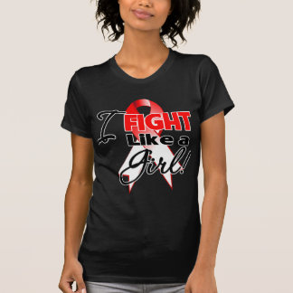 Oral Cancer Ribbon - I Fight Like a Girl T Shirts