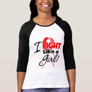 Oral Cancer Ribbon - I Fight Like a Girl T-shirt