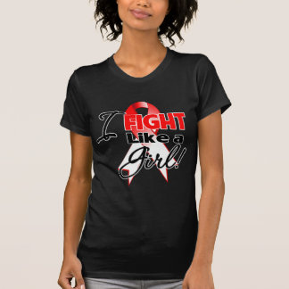 Oral Cancer Ribbon - I Fight Like a Girl T Shirt