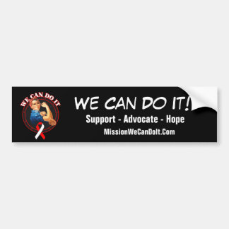 Oral Cancer - Rosie The Riveter - We Can Do It Bumper Sticker