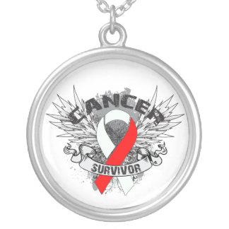 Oral Cancer Survivor Grunge Winged Custom Necklace