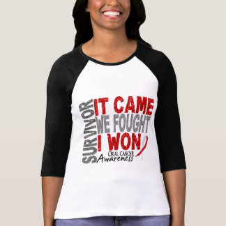 Oral Cancer Survivor It Came We Fought I Won T-Shirt