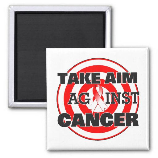 Oral Cancer Take Aim Against Cancer Fridge Magnet
