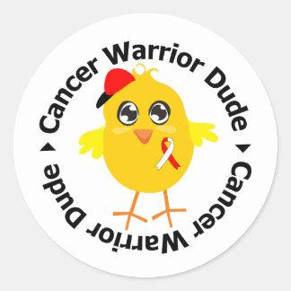 Oral Cancer Warrior Dude Round Sticker