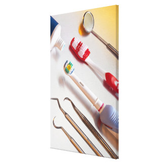 Oral Hygiene - Electric toothbrush, manual Canvas Print