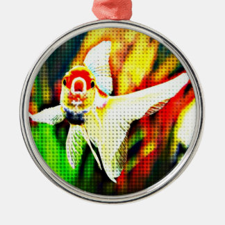 Oranda Goldfish Pop Art Colorful Christmas Ornament