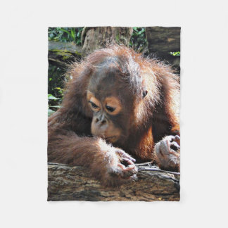 Orang baby fleece blanket