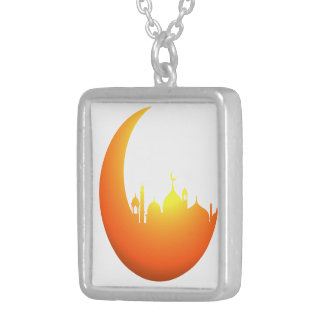 Orang moon silver plated necklace