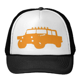 Orange 4x4 Hat