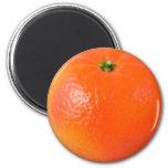 Orange 6 Cm Round Magnet
