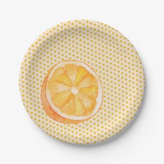 Orange 7 Inch Paper Plate