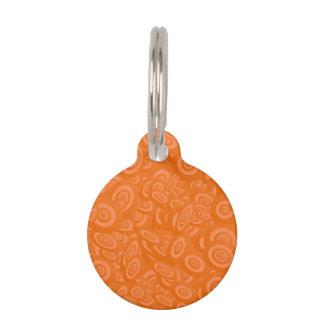 Orange Abstract 45s Pet Tag