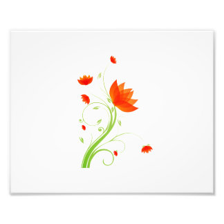 orange abstract flower eco graphic.png photographic print