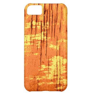 Orange Abstract Graphic with Dark Lines. iPhone 5C Case