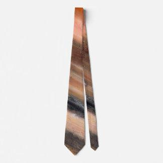 Orange Abstract Neck Tie
