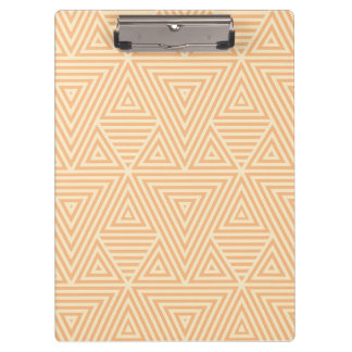 Orange Abstract Pattern by storeman Clipboard