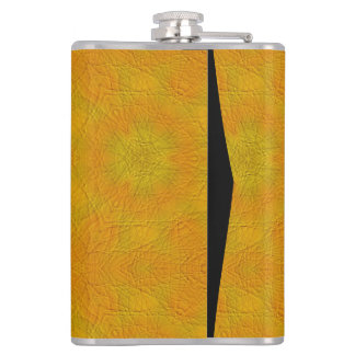 Orange abstract pattern hip flask