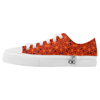 Orange Abstract Pattern Low Tops