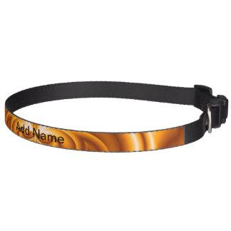 Orange abstract pattern pet collar