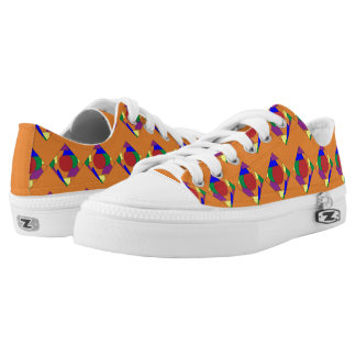 Orange Abstract Shoes