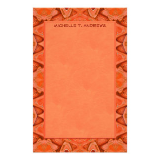 orange abstract stationery