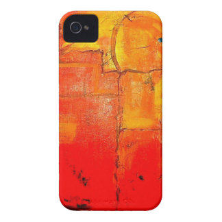 Orange Abstract  Unique Painting vibrant colors iPhone 4 Covers