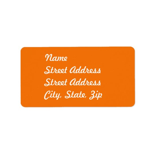 Orange  Address Sticker