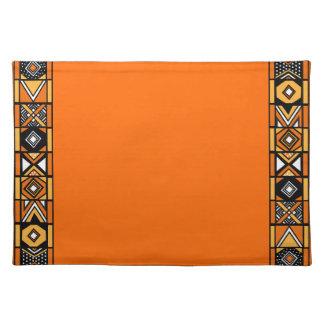 Orange African Art Placemat