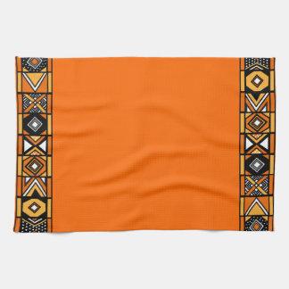 Orange African Design Kitchen Towel