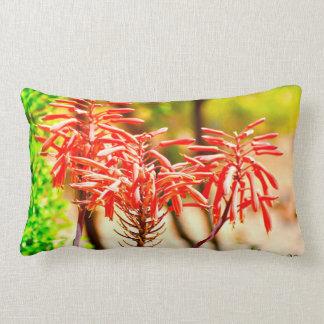 Orange Agave Blooms Pillow