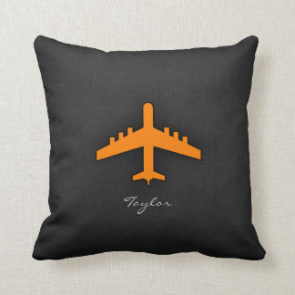 Orange Airplane Cushion