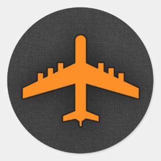 Orange Airplane Sticker