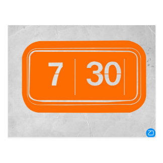 Orange alarm clock postcard