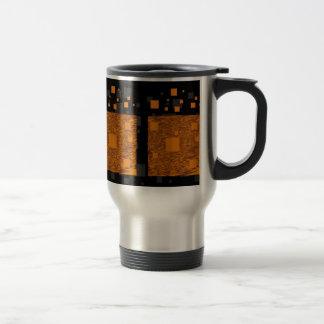 Orange alert float abstract Halloween black box Stainless Steel Travel Mug