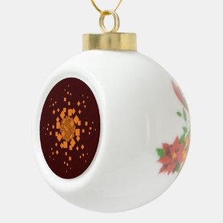 Orange alert Merry Christmas tree Noel Xmas ball Ceramic Ball Decoration