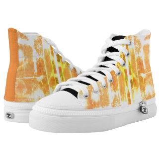 Orange Alligator Skin Zipper Shoes