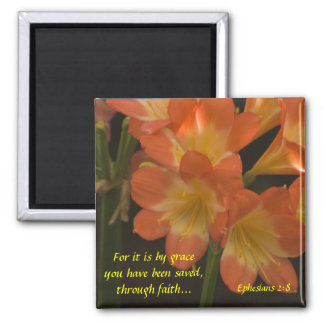 Orange Amaryllis Magnet