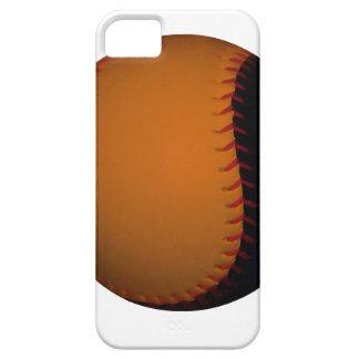 Orange and Black Baseball / Softball iPhone 5 Cases