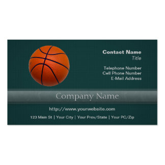 Orange and Black Basketball Business Cards