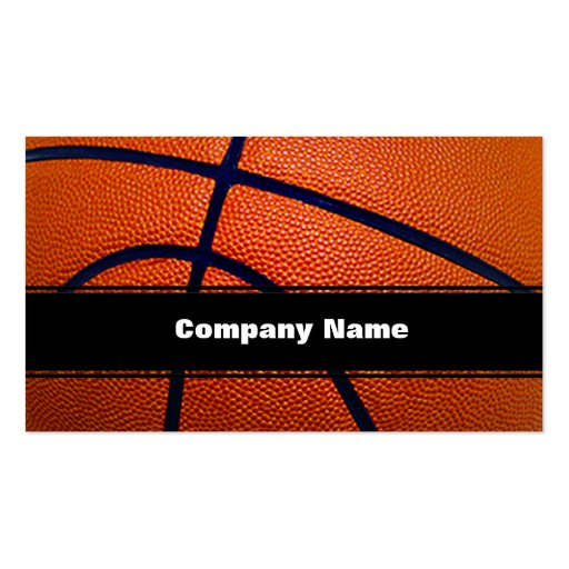 Orange and Black Basketball Business Card