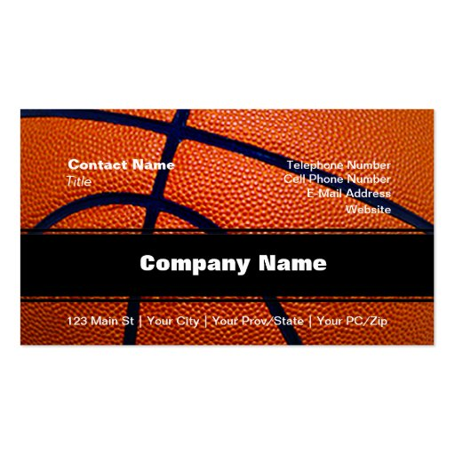Orange and Black Basketball Business Card Templates