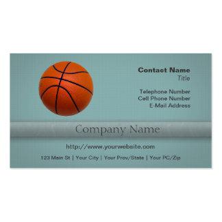Orange and Black Basketball Business Cards