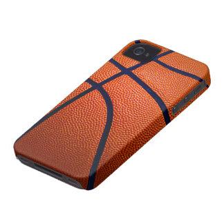 Orange and Black Basketball iPhone 4 Case