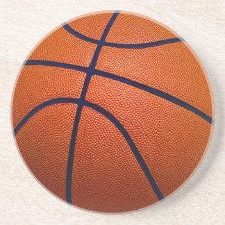 Orange and Black Basketball Coaster