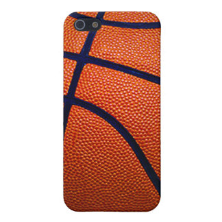 Orange and Black Basketball iPhone 5/5S Covers