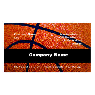 Orange and Black Basketball Pack Of Standard Business Cards