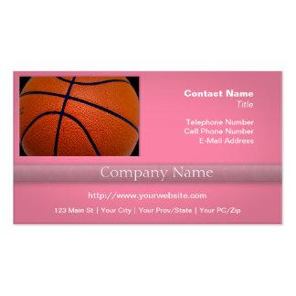 Orange and Black Basketball Pack Of Standard Business Cards