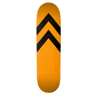 Orange and Black Chevrons Skateboard Deck